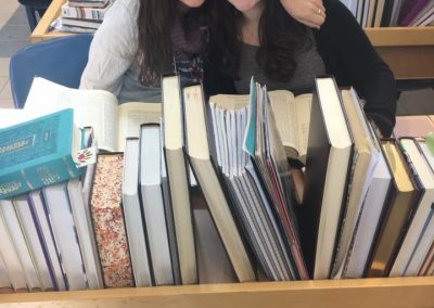 Yonina Silverman and Yael Turitz in Migdal Oz beit midrash (002)