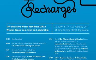Recharge Yom Iyun Happening in Jerusalem