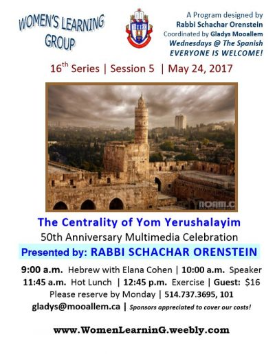 WLG - 16th Series - Session 5 - Yom Yerushalayim - Rabbi jpeg