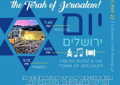Yom Yerushalayim Flyer suburban torah