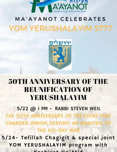Yom yerushalayim at Ma'ayanot (002)