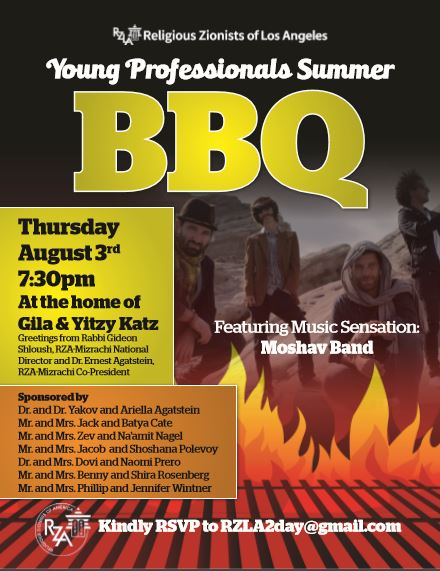RZA Young Professionals BBQ in LA August 3rd!