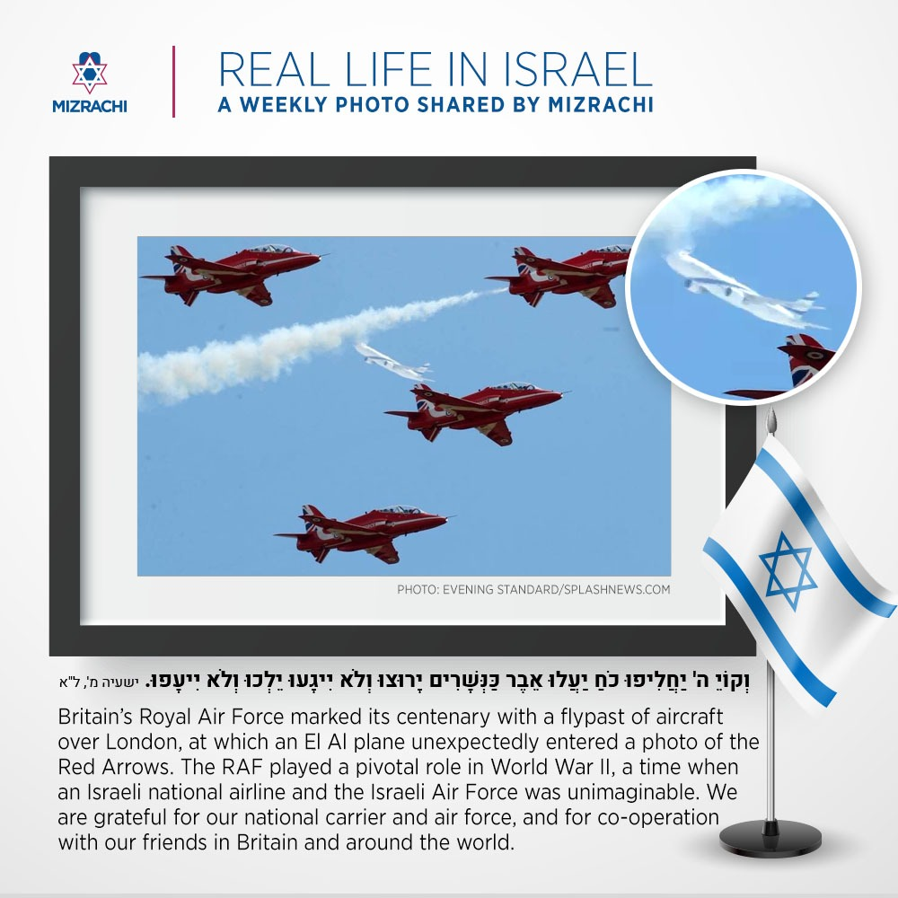 Royal Airforce with ElAl plane